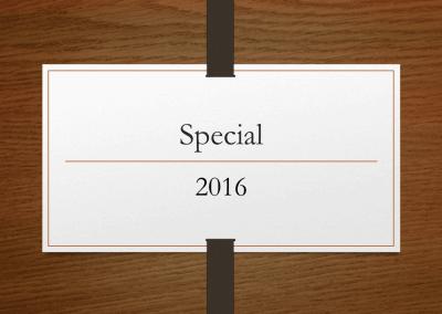 2016 Special