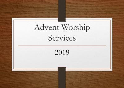 2019 Advent Worship Services