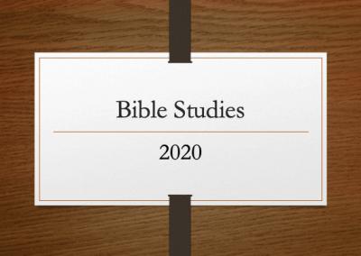 2020 Bible Studies